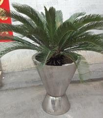 不锈钢双锥形花盆