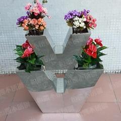 不锈钢花盆V字形
