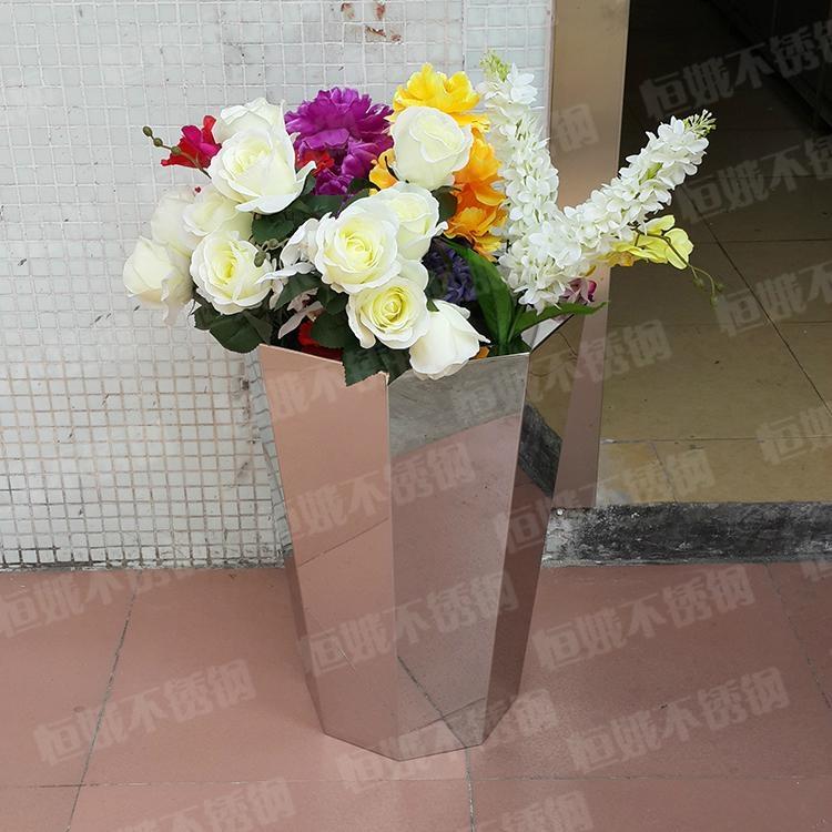 不锈钢多边形花盆 1