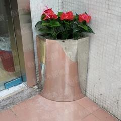 不锈钢室内花盆