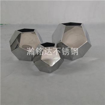不鏽鋼足球花瓶 台面花瓶 1