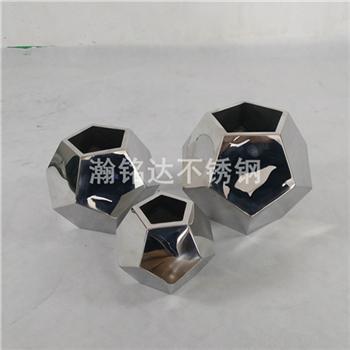 不鏽鋼足球花瓶 台面花瓶 3