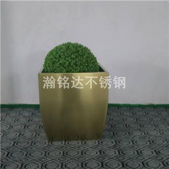 不鏽鋼方形花盆 1