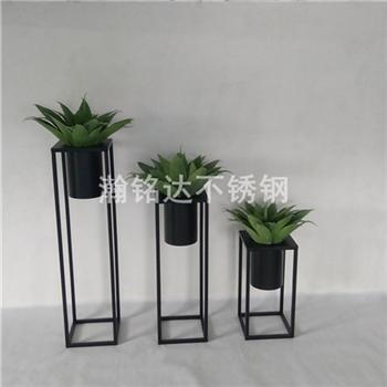 烤漆花盆 黑色花架 1