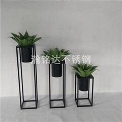 烤漆花盆 黑色花架