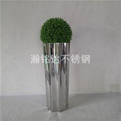 不锈钢花盆 金属装饰摆件