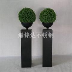 黑色烤漆花盆