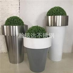 不鏽鋼組合花盆