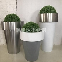 不锈钢组合花盆
