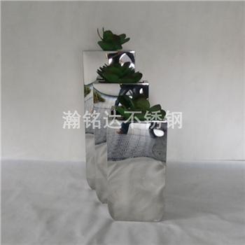 不鏽鋼花盆 亮光金屬花箱 1