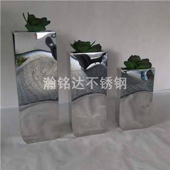 不鏽鋼花盆 亮光金屬花箱 2