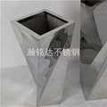 不鏽鋼扭扭花瓶 落地花盆 2