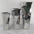 不鏽鋼扭扭花瓶 落地花盆