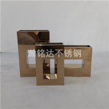 台面花瓶 方形不鏽鋼花瓶擺件 1