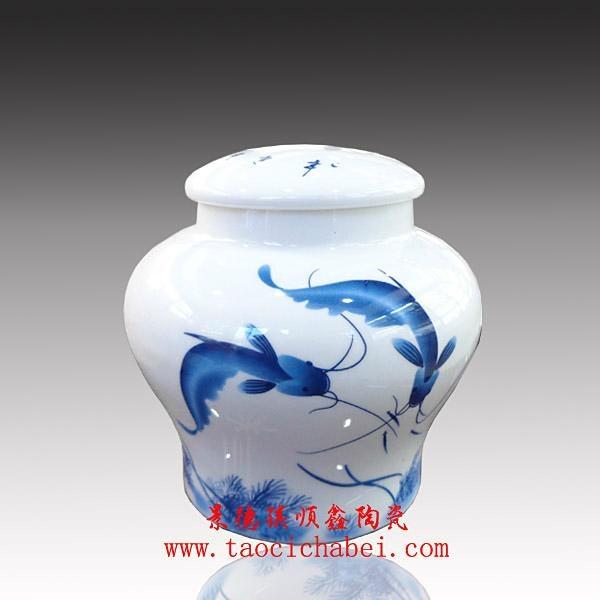 青花瓷茶葉罐 1
