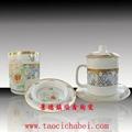 商務會議禮品陶瓷茶杯三件套 3