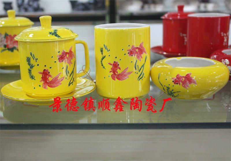 商務會議禮品陶瓷茶杯三件套 4