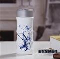 公司年會禮品景德鎮雙層陶瓷茶杯保溫杯 4