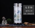 公司年會禮品景德鎮雙層陶瓷茶杯保溫杯 5