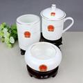 辦公文化禮品陶瓷茶杯煙灰缸筆筒套裝 1