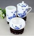 辦公文化禮品陶瓷茶杯煙灰缸筆筒套裝 3