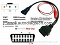 auto Cable for FIAT 3pin 16pin Adapter Cable for FIAT 3 Pin Alfa Lancia