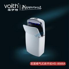 深圳红外线自动感应喷射气双面干手机HS-8566A