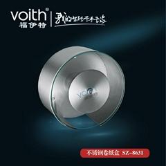 福伊特圓形鋼化玻璃卷紙盒VT-8631福伊特品牌