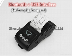 58mm Portable Bluetooth Thermal Printer iOS  Android