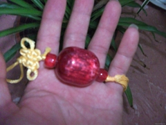 Flavour red jade bead
