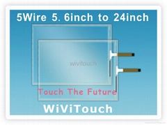 "5 wire 22"" resistive touch screen"