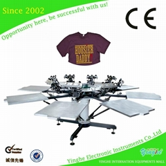 8 color 8 station Micro Registration Screen Printing Machine
