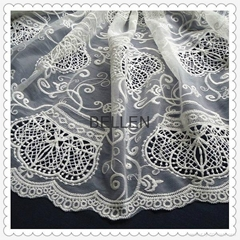 Embroidery lace fabric with fashion designs