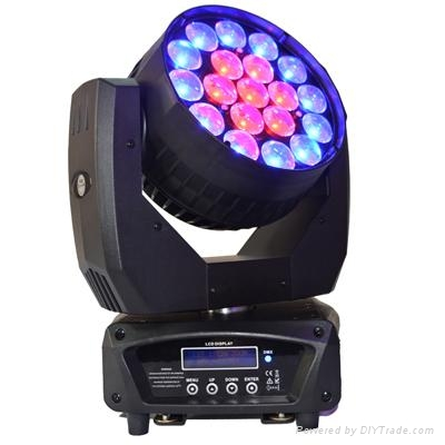 19PCS 12W 4 in 1 OSRAM LED zoom moving head beam stage light 1