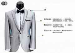 银色结婚西服套装