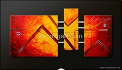 Handpainted Abstract Canvas Oil Painting with Stretched Frame