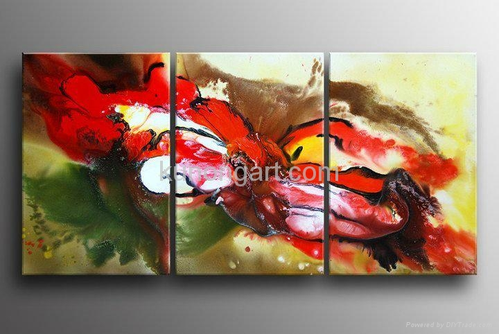 Handpainted Canvas Art Modern Oil Painting with Stretched Frame 1