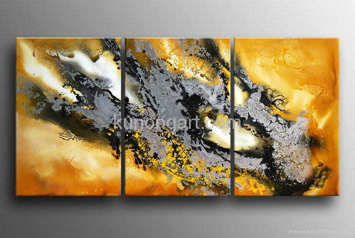 Handpainted Canvas Art Modern Oil Painting with Stretched Frame 3