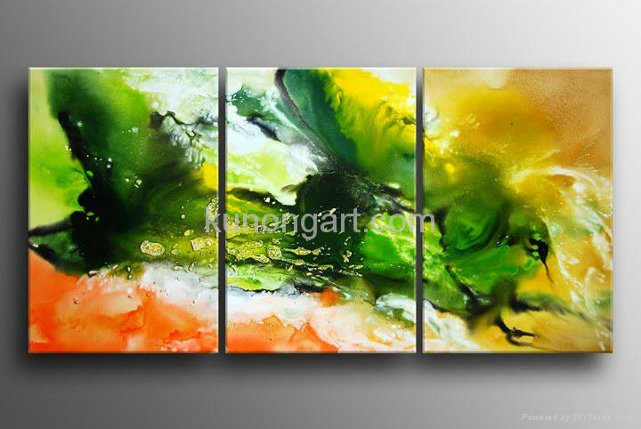 Handpainted Canvas Art Modern Oil Painting with Stretched Frame 5