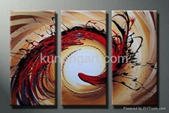 Hand-painted Canvas Art Abstract Decoration Paintings with Stretched Frame