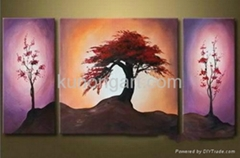 Handpainted Canvas Arts Scenery Painting with Stretched Frame