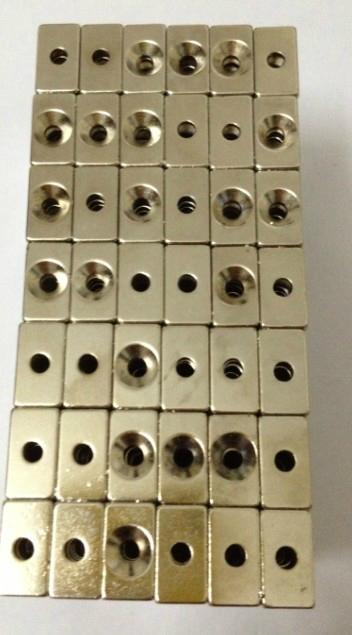 釹鐵硼沉頭孔磁鐵 2