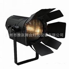 200W LED螺紋聚光燈 菲涅耳面光燈 電子變焦聚光燈 新聞演播室燈