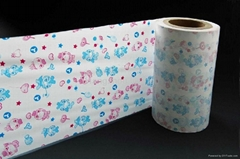 two printing colours film for diaper backsheet