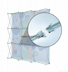 Velcro Pop up display,fabric display stand, trade show pop up display stand