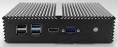 路由器3215U英特爾4網口電腦主機帶串口 WIFI 愛快海蜘蛛Q310G4