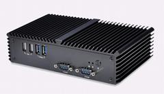 Q310P 3215U rs323 6串口 英特爾雙網卡雙HDMI工業迷你電腦