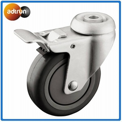 Medical casters for hospital equipment
