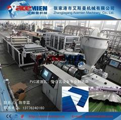 PVC波浪瓦生產線設備