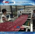 PVC琉璃瓦生产线、塑料彩瓦机械设备 4